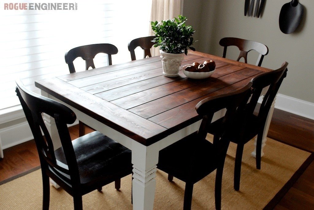 Farmhouse Table  How To Make A Table  Home  DIY on Cut