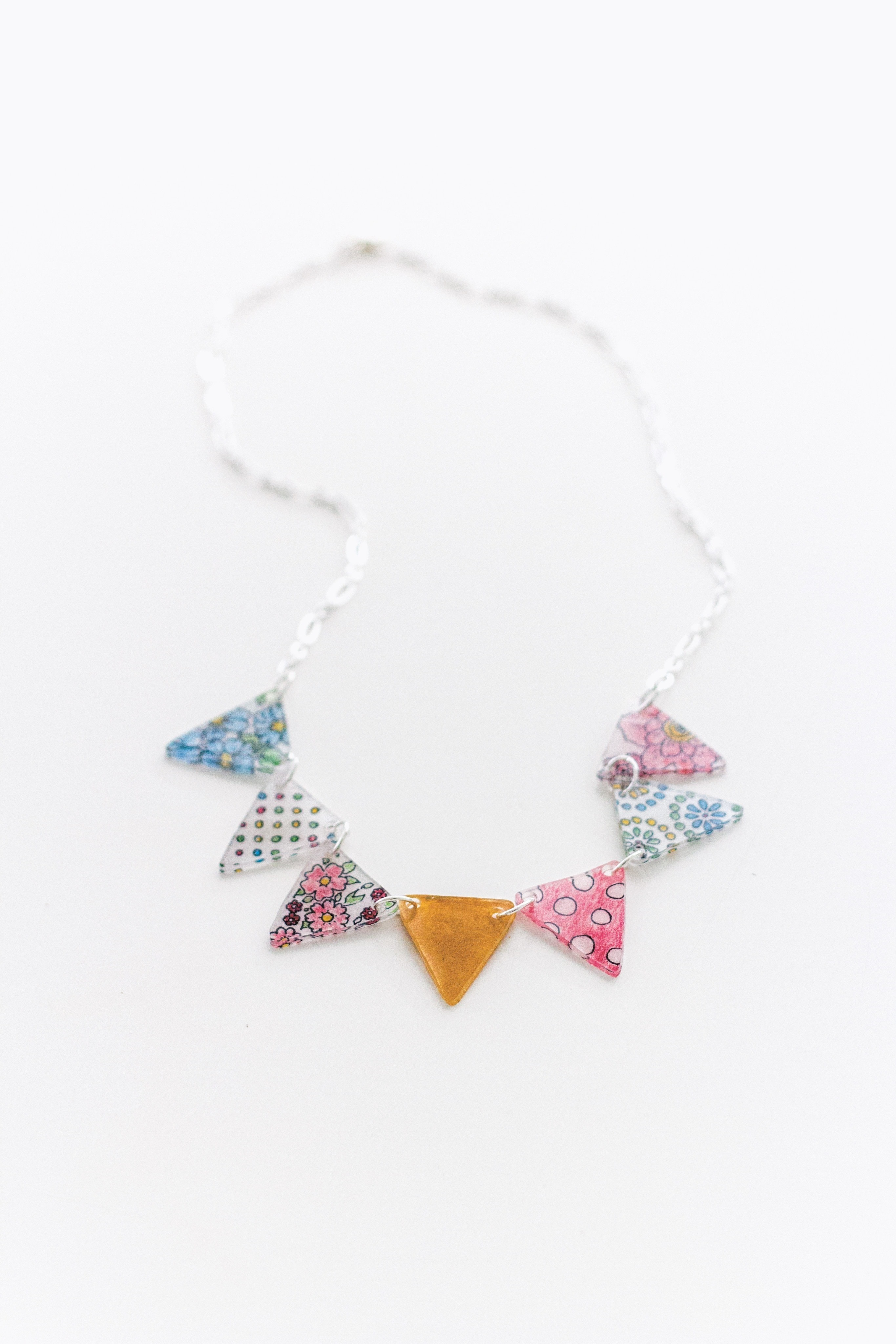 Shrink Plastic Bunting Necklace · Extract from Banners