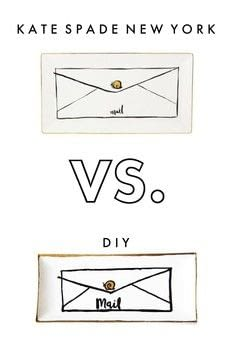 Diy This Kate Spade Inspired Snail Mail Tray For The