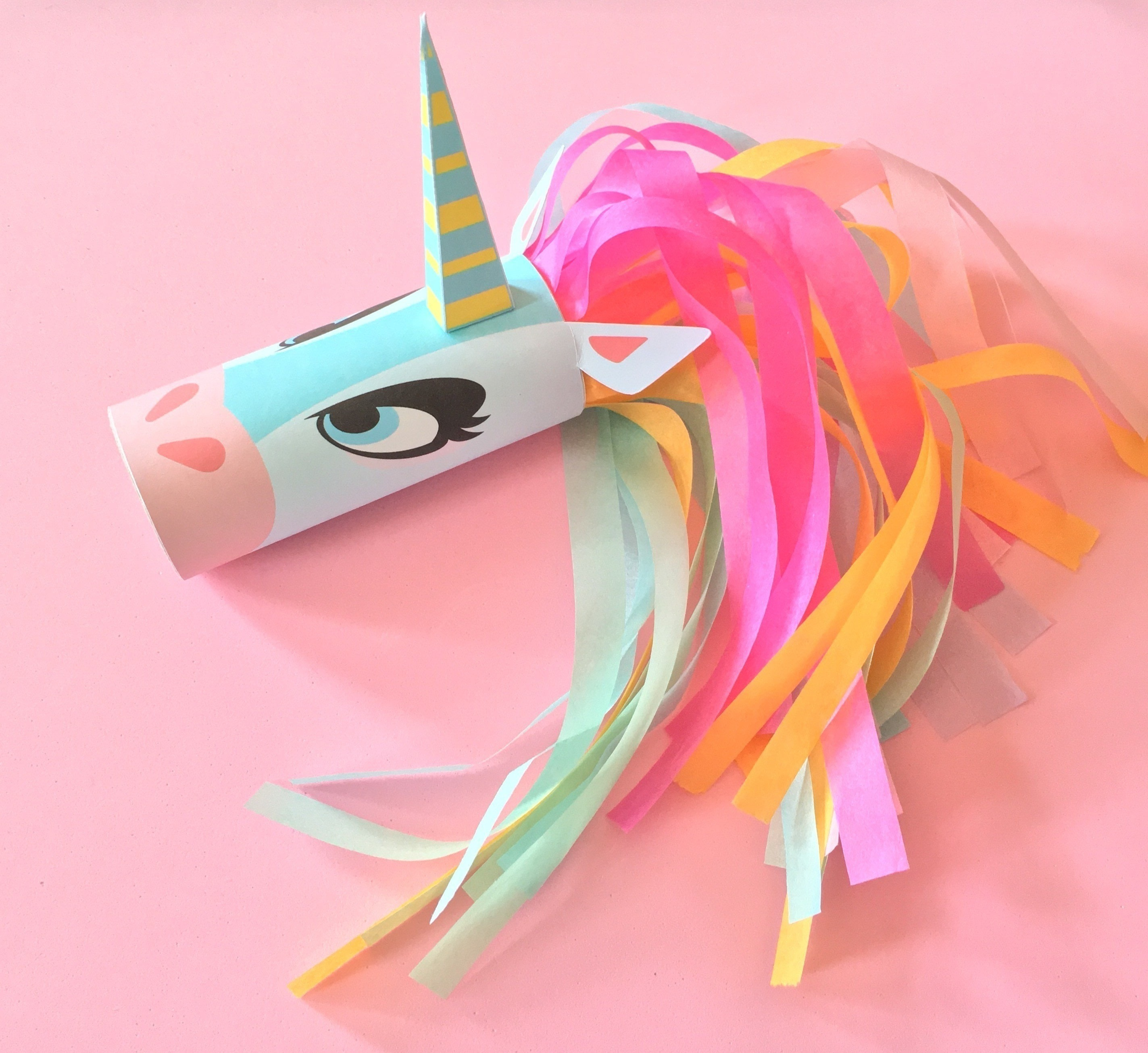 Unicorn Head Toilet Tube Craft Printable How To Make A Paper Roll Model Papercraft On Cut