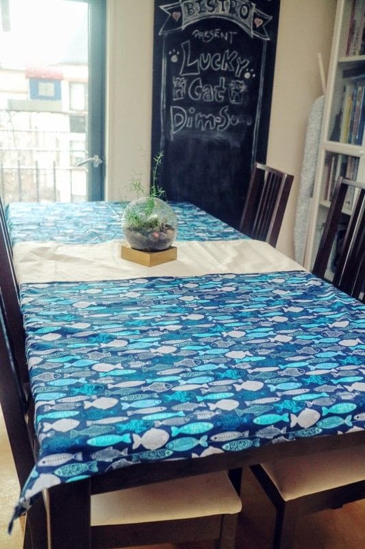 Nautical Fish Tablecloth How To Make A Tablecloth