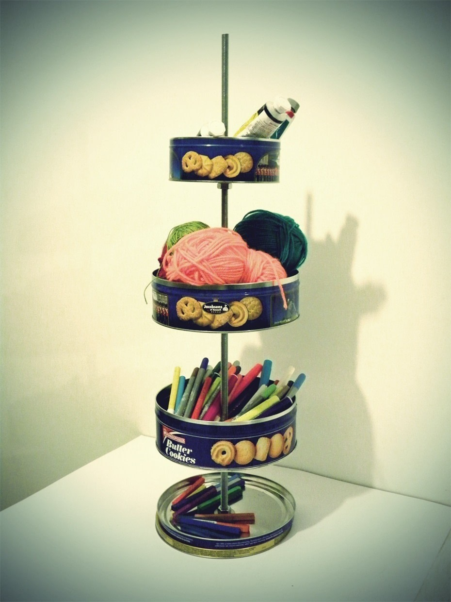 Cookie Tin Desk Organiser  How To Make A Craft Organizers