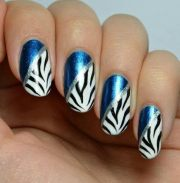zebra nail art paint
