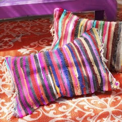 Diy Chair Cushion No Sew Crochet Arm Covers For Chairs Rag Rug Pillows  How To Make A Floor