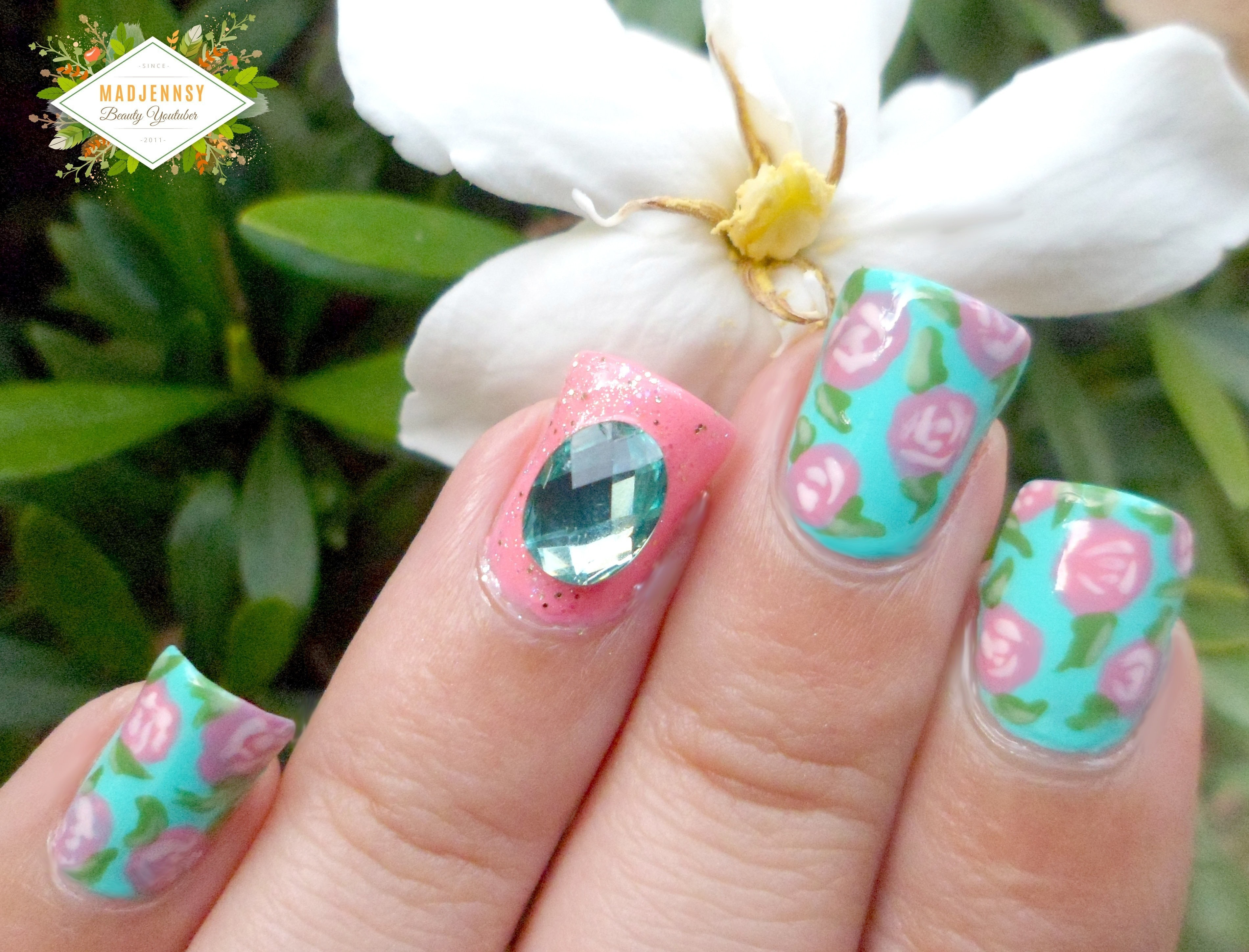 Vine Roses Nail Art How To Paint Patterned Beauty On Cut Out Keep