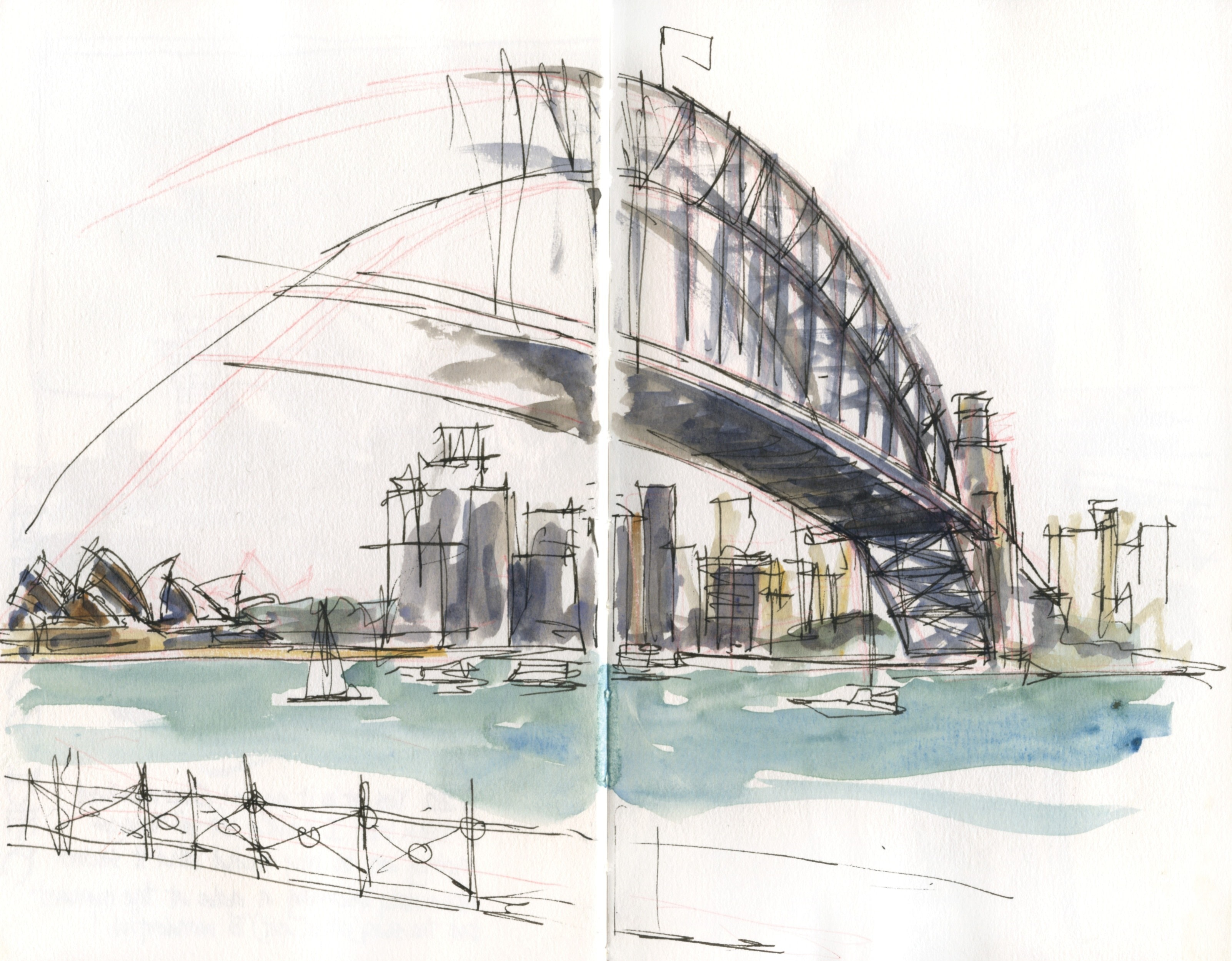 Quick Sketch Bridges  Extract from Five Minute Sketching