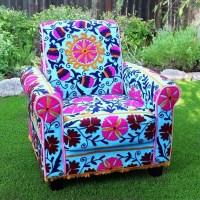 No Sew Boho Upholstered Chair  How To Make A Chair  Home ...