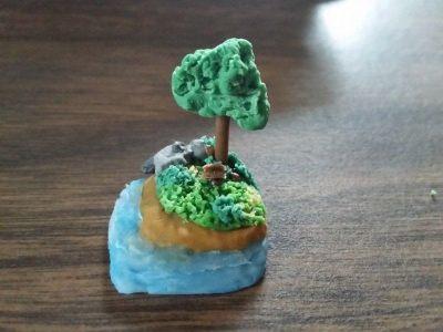 Mini Cold Porcelain Islands · A Clay Model · Art on Cut ...