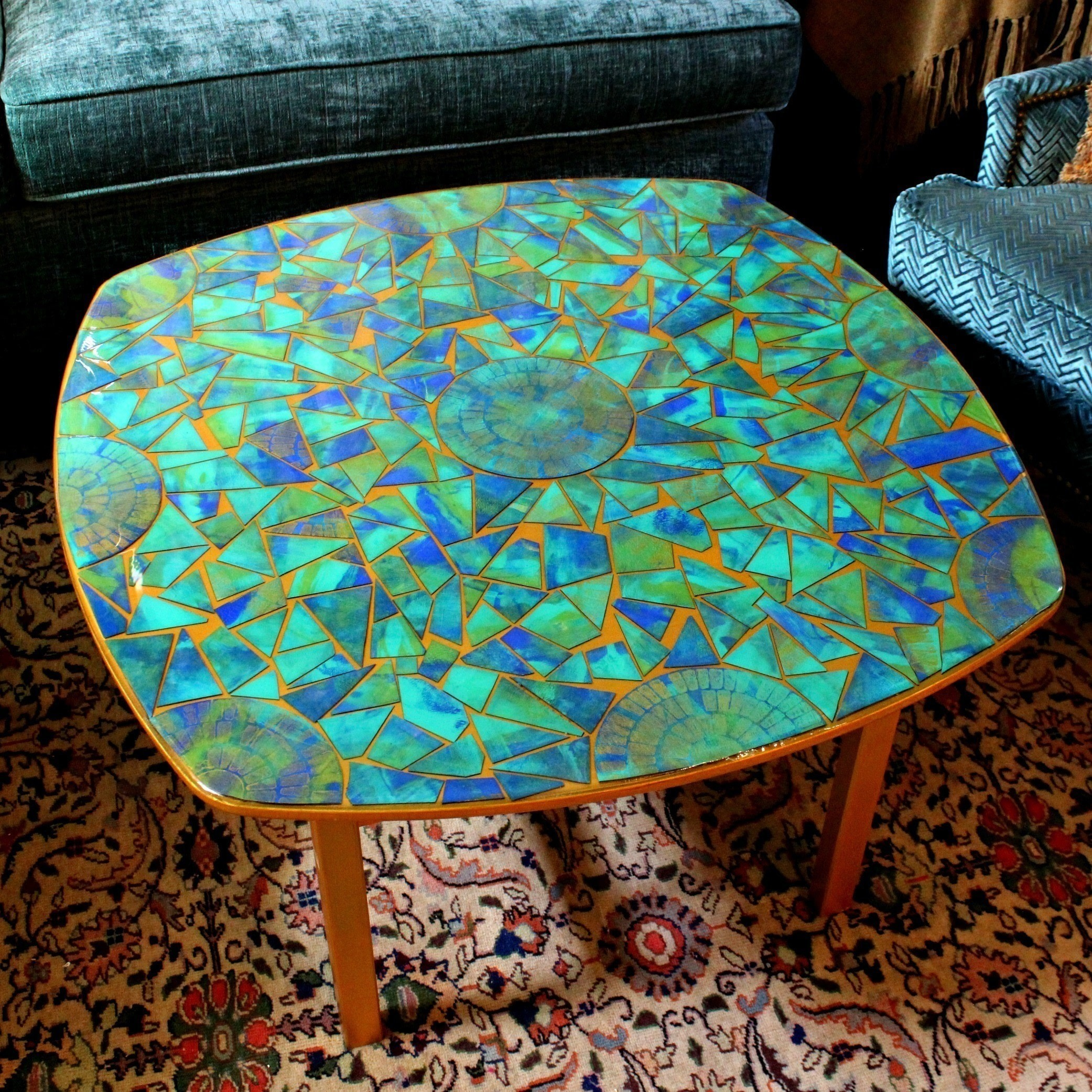 Cardboard Mosaic Table  How To Make A Table  Home + DIY