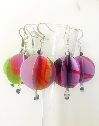 Baubble Origami Earrings  How To Make A Set Of Paper ...