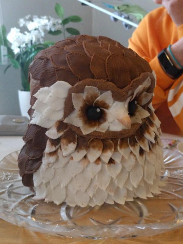 Owl Birthday Cake Black Forest Recipes Cut