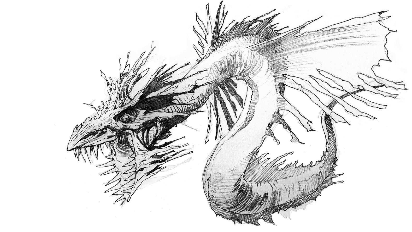 How To Draw Sea Dragon · Extract from Fantastic Creatures