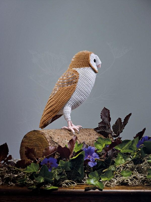 Crocheted Barn Owl Extract Birds