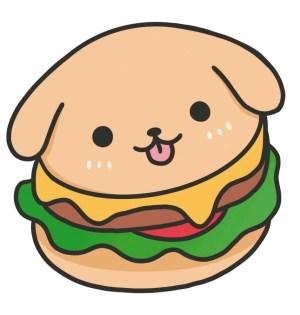 draw kawaii really hamburgers drawing step burger animals extract hamburger animal nguyen angela press face simple pencil japanese published