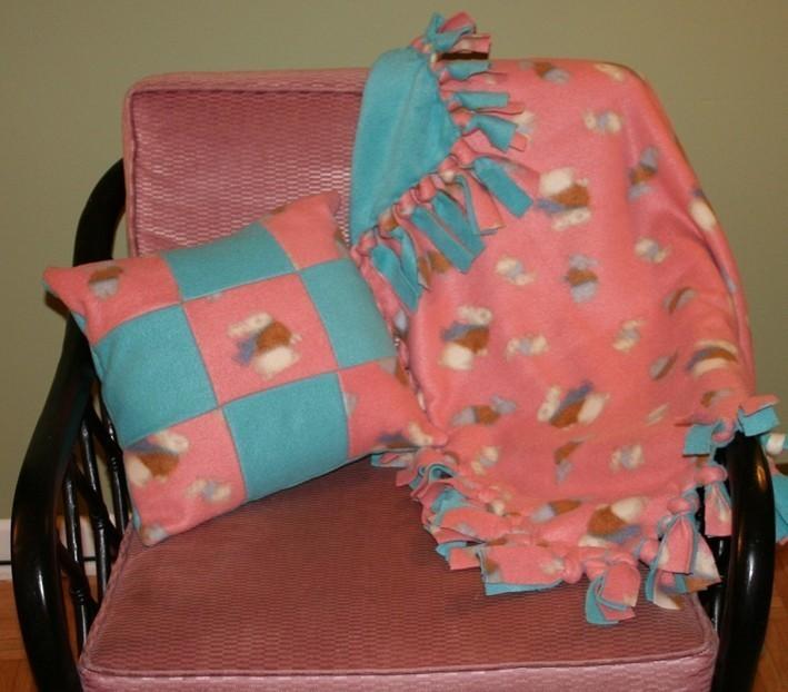 No Sew Fleece Blanket  Pillow  A Fleece Blanket