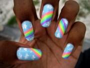 rainbow nails. nail