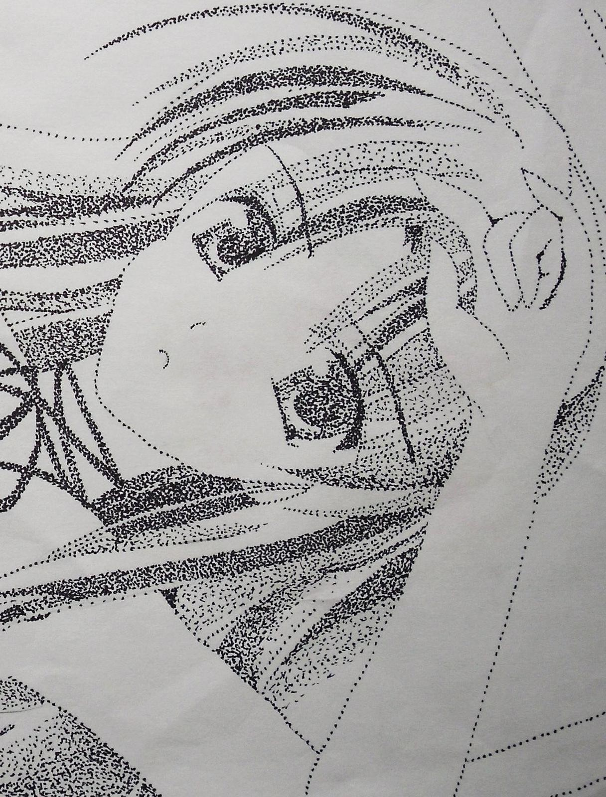 Another Pointillism Drawing A Manga Drawing Drawing On