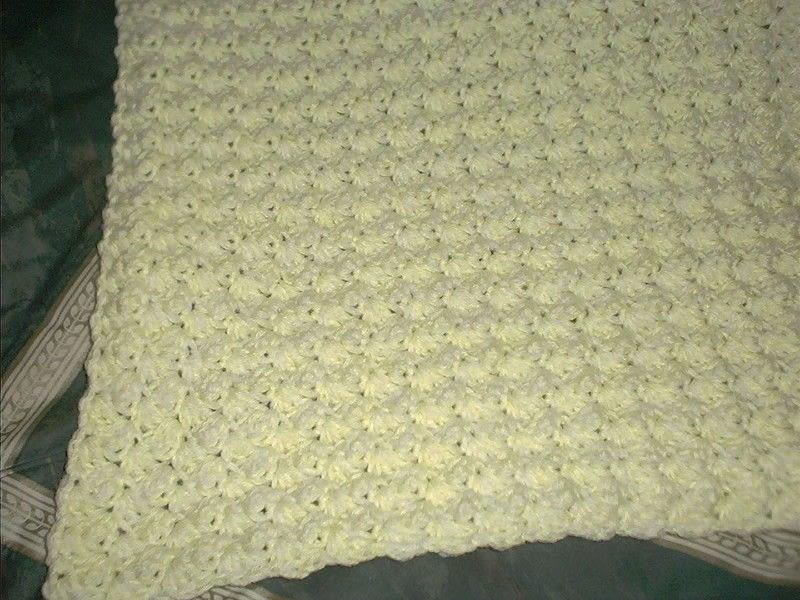 Crochet Using Double Strand Yarn Thick Baby Blanket  A Baby Blanket Comforter  Crochet on Cut