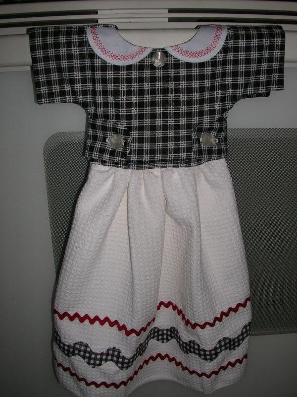 50s Style Dress Oven Door Towel  A Tea Towel