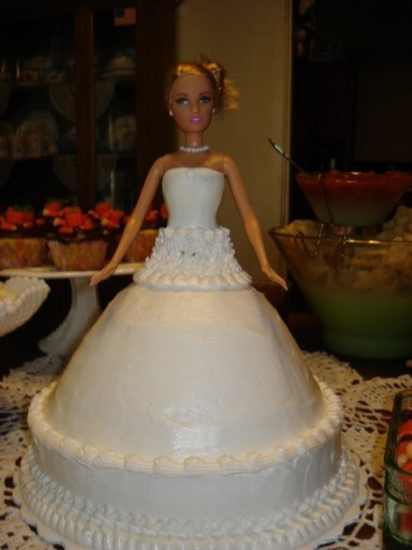 Bridal Shower Barbie Cake  A Doll Cake  Food Decoration