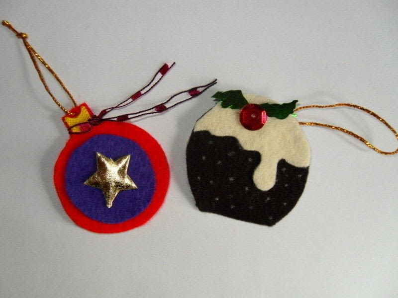 Christmas No Sew Felt Decorations A Christmas Tree