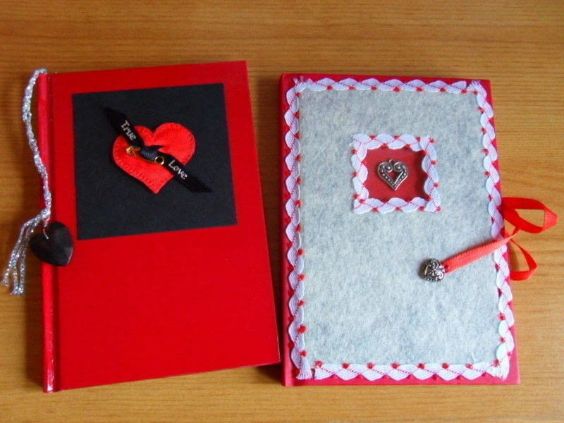 Felt Covered Diary With Aperture  How To Make A Felt Book