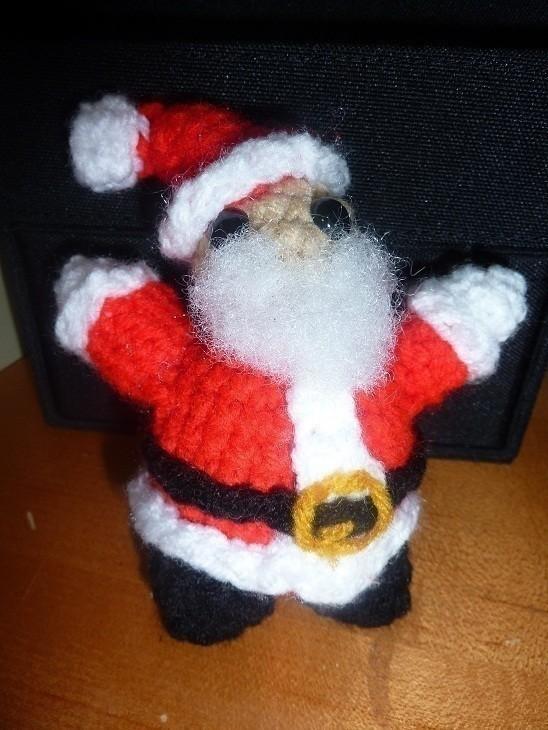 Santa Claus Amigurumi A Rag Dolls A Person Plushie Amigurumi On Cut Out Keep