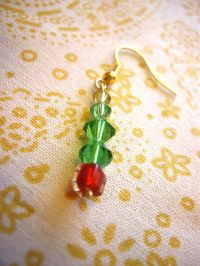 Christmas Tree Earrings  How To Make A Dangle Earring ...