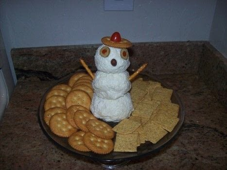 Snowman Cheese Dip A Cheese Dip Cooking On Cut Out