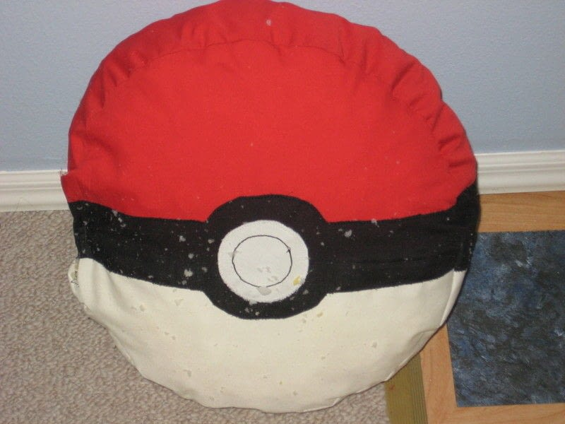 Pokeball Pillow 183 How To Make A Shaped Cushion 183 Sewing On