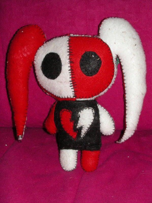 My Freaky Felt GothEmo Friends  Rabbit Plushie  Sewing