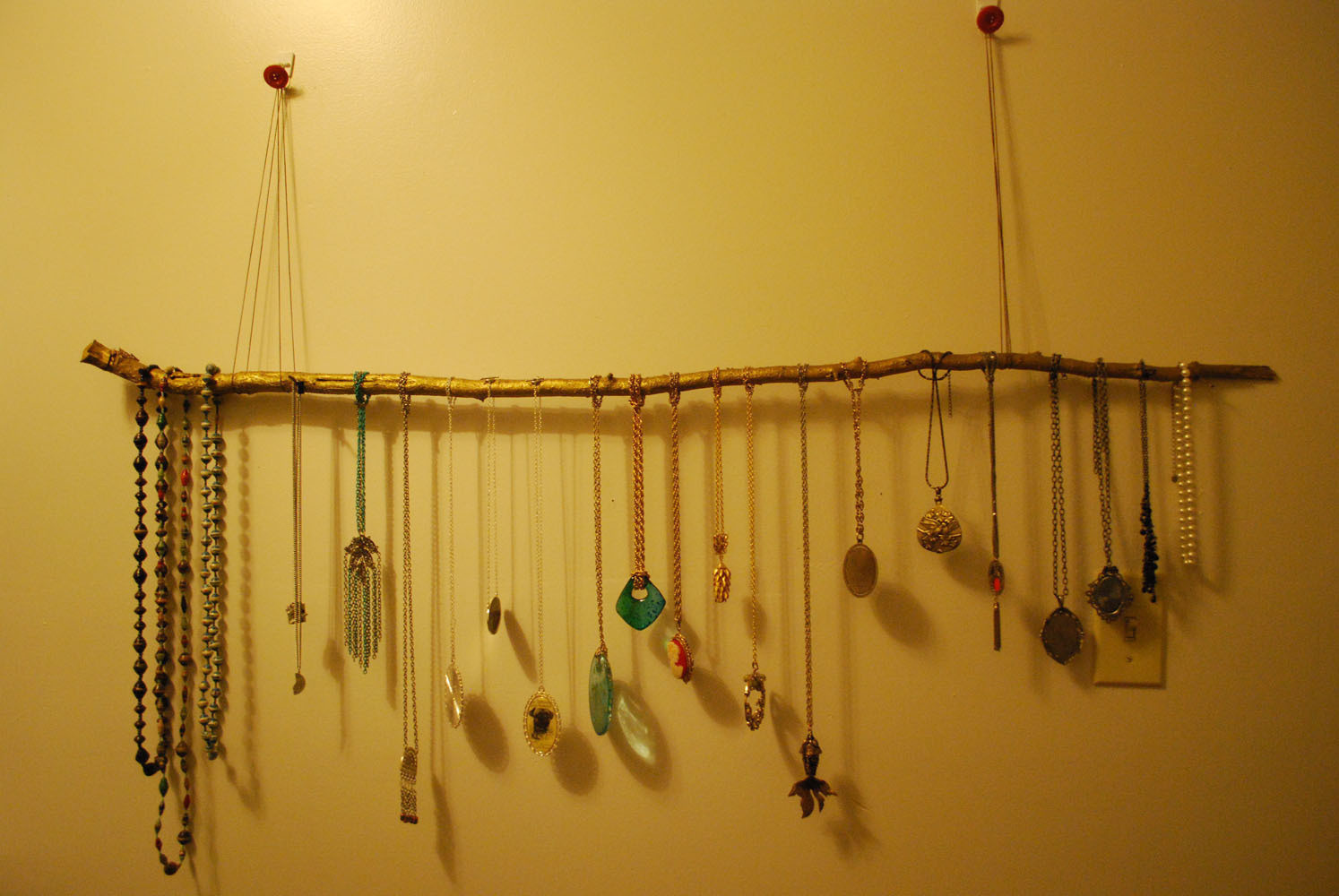 Diy Tree Branch Necklace Holder Diy Do It Your Self