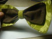 fabric bow make hair