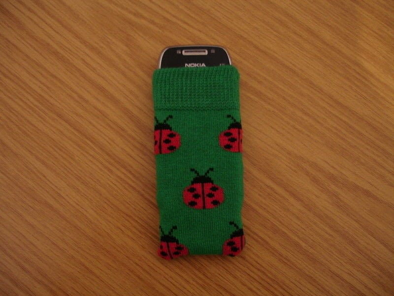 Ladybird Phone Sock A Sock Pouch Sewing On Cut Out Keep Creation By Fiona T