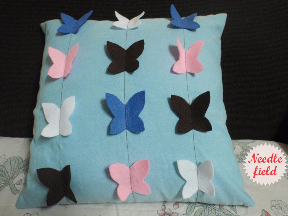 Felt Butterfly Pillow  How To Sew An Applique Cushion