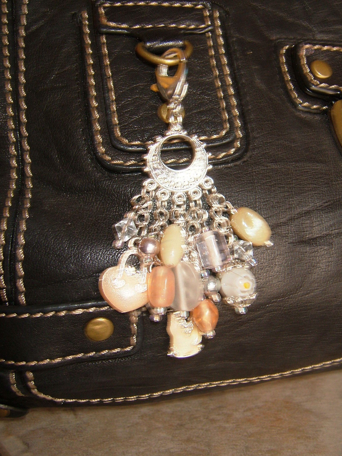 Champagne Lady Purse Dangle A Charm Keyring Jewelry Making On Cut Out Keep