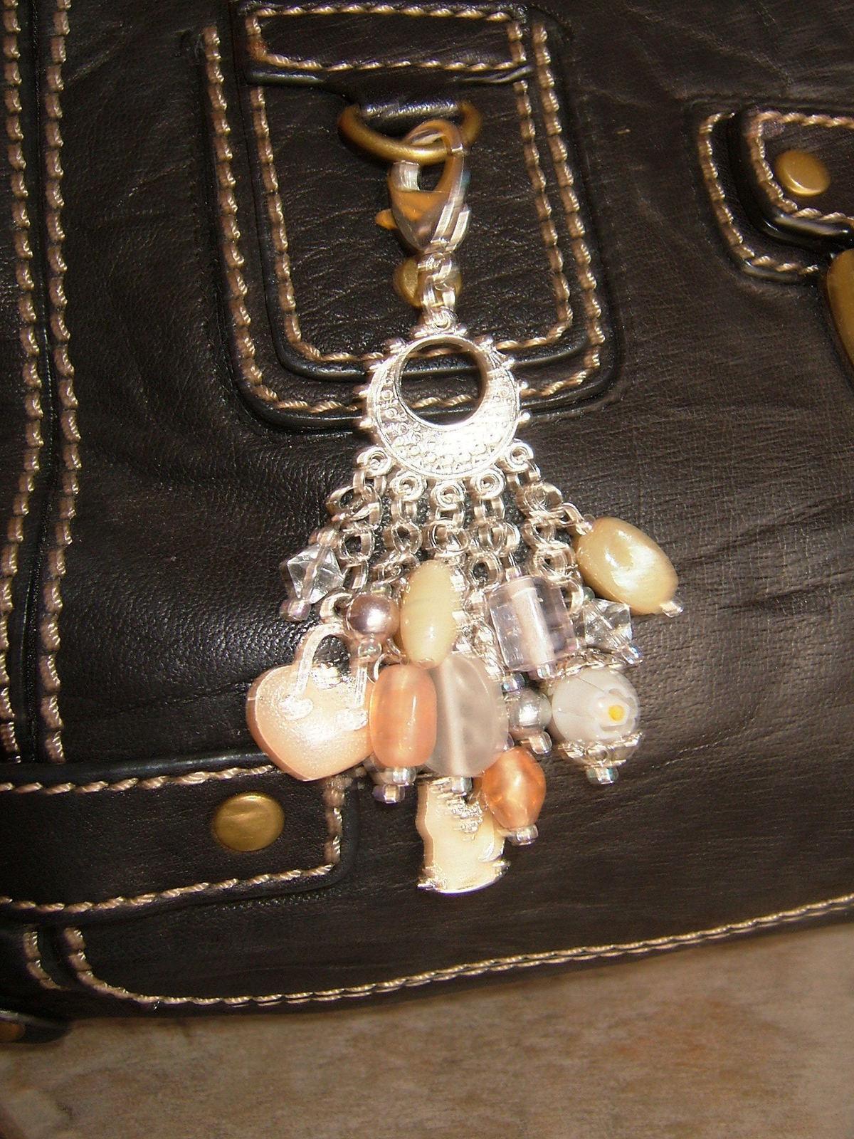 Champagne Lady Purse Dangle 183 A Charm Keyring 183 Jewelry