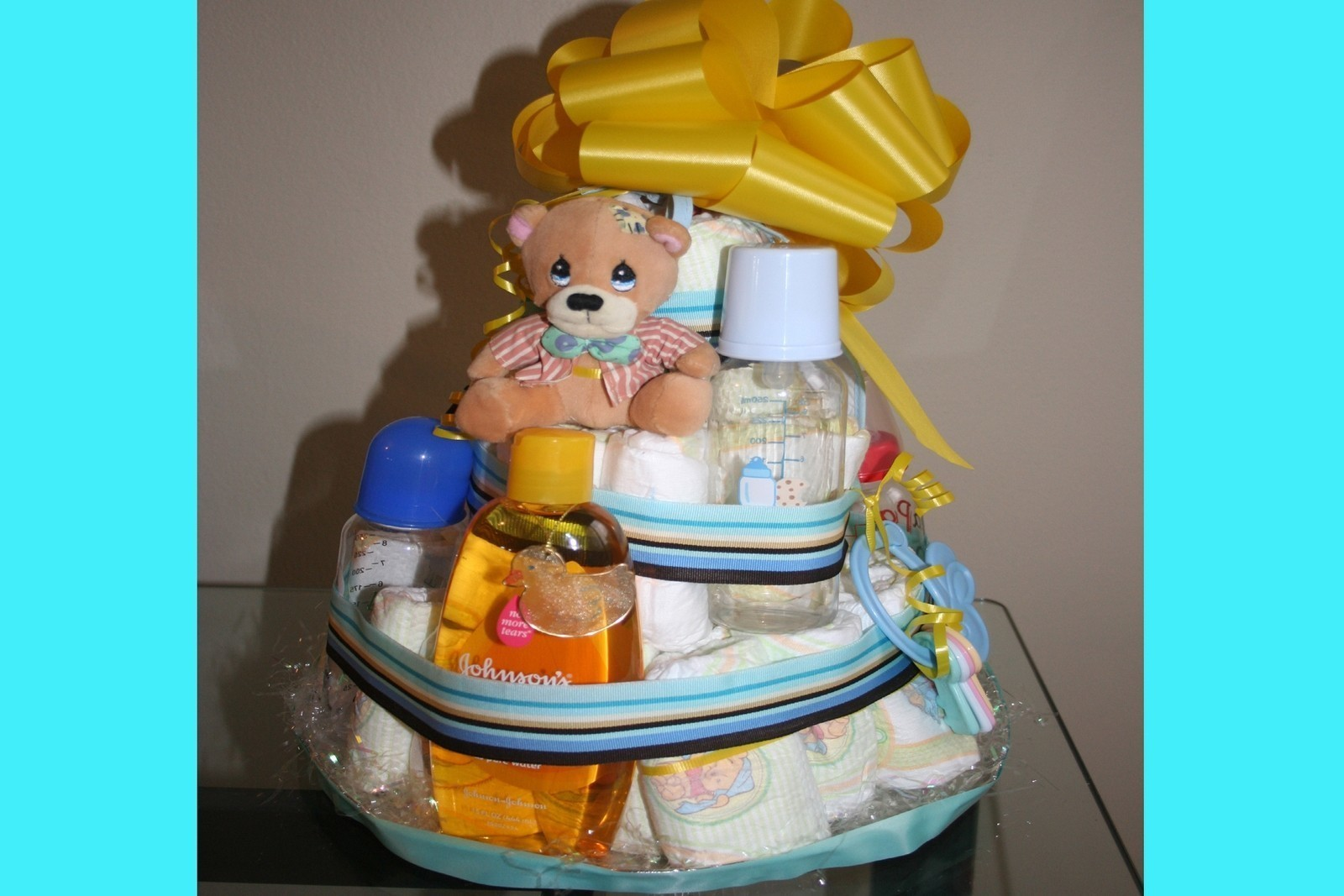 Its A Boy  Gifts  A Gift Basket  Decorating on Cut Out  Keep
