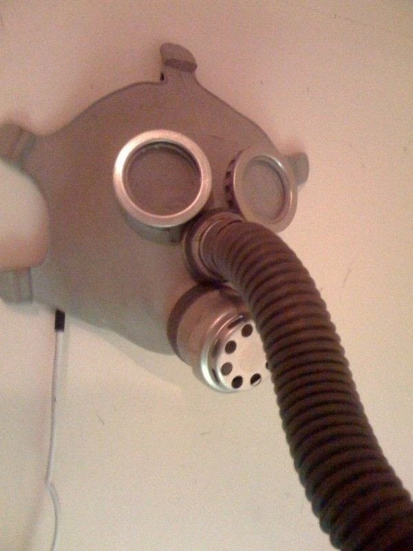 Wall Mounted Poseable Gas Mask Lamp 183 How To Make A Wall