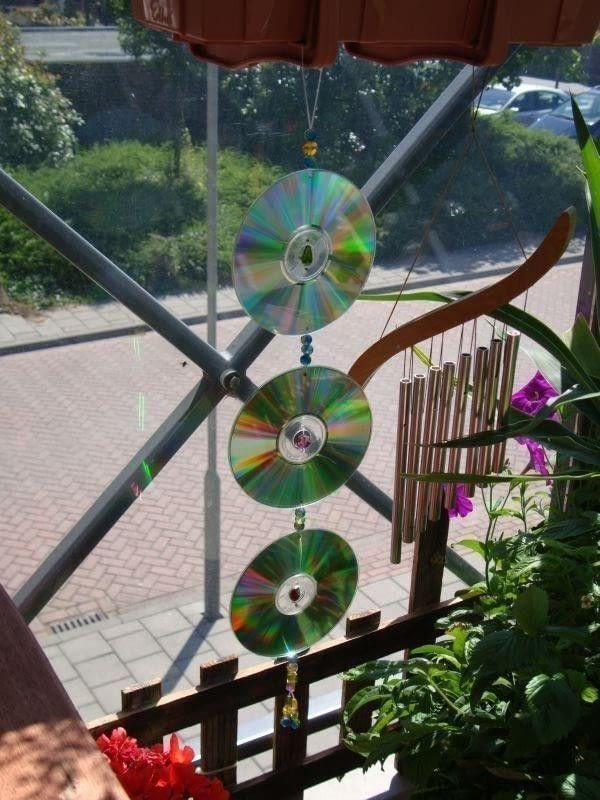 CdDvd Suncatcher Mobile  A Sun Catcher  Decorating on Cut Out  Keep