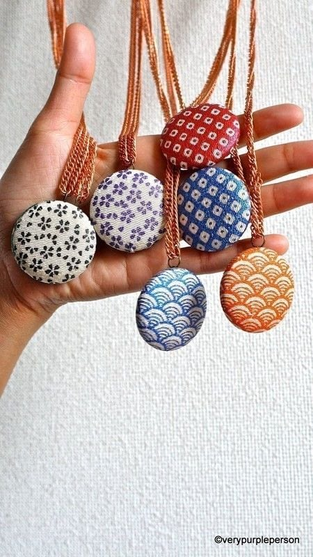 Fabric Covered Button Necklace  How To Make A Button