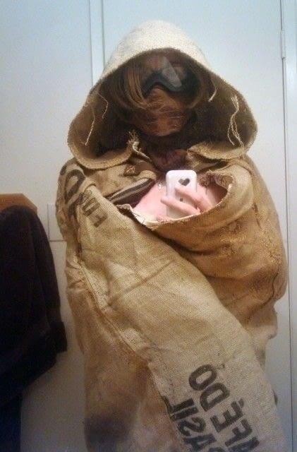 Burlap Hooded Cloak  A Cape  Cloak  Dressmaking on Cut Out  Keep  Creation by Lisa D