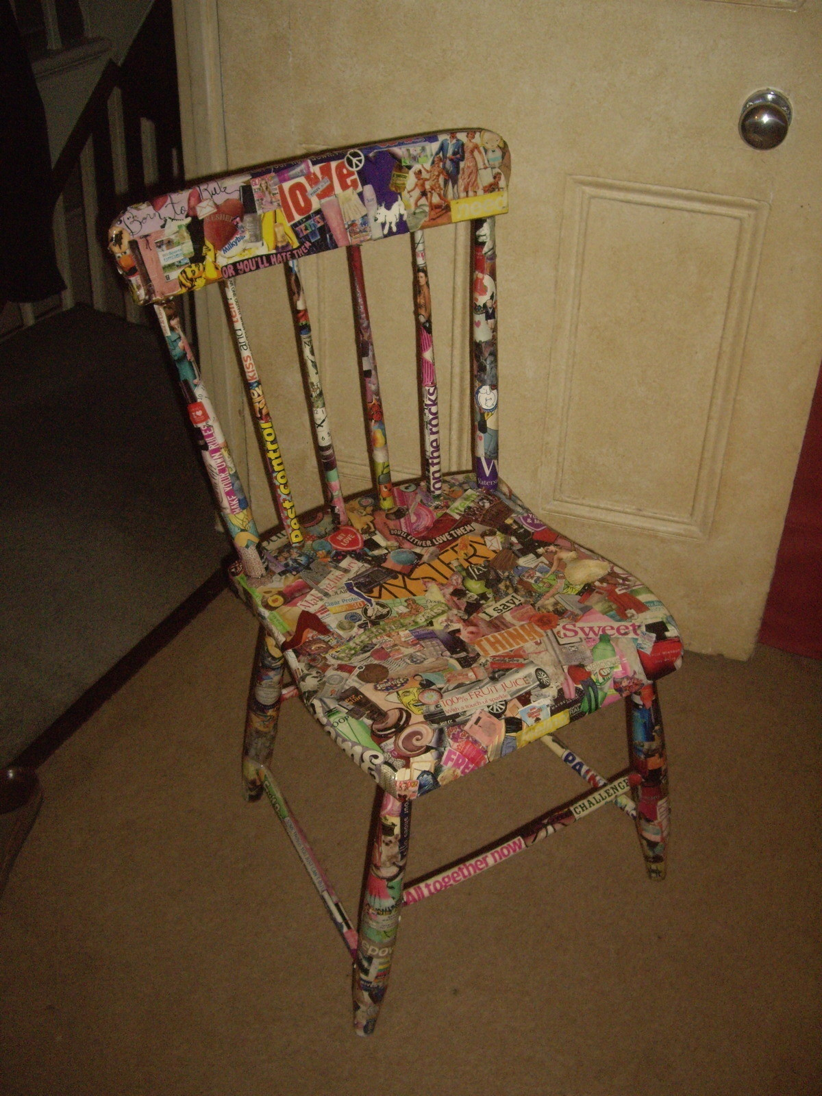Collage Chair  How To Make A Chair  Collage and