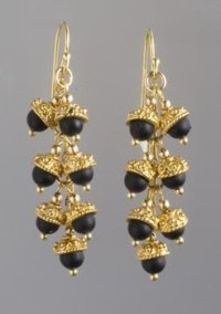 Black Onyx And Gold Earrings  Extract from Simply ...