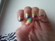 rainbow nails nail