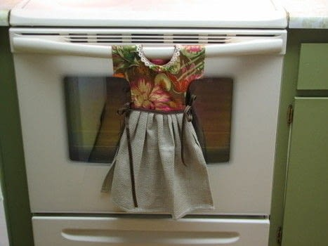 Dress Kitchen Towel  How To Make A Tea Towel  Sewing on Cut Out  Keep