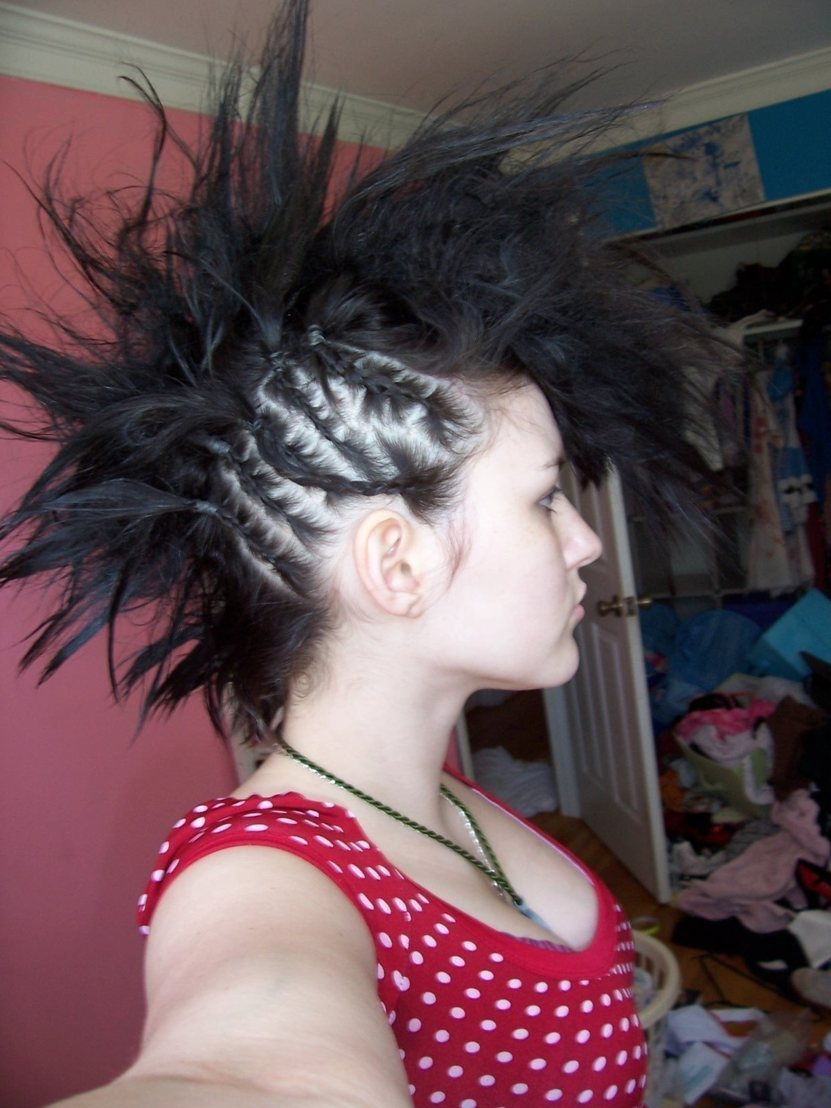 Braided Mohawk A Mohawk Hairstyle Hair Styling On Cut