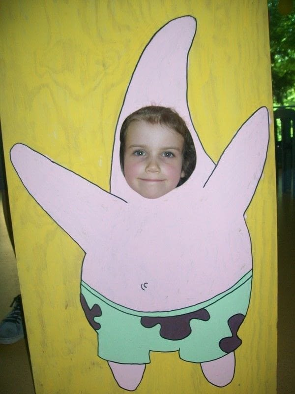 Spongebob Birthday Party  Photo Stand Up And Face