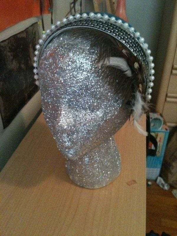 Glitter Head Manequin  A Mannequins  Decorating on Cut