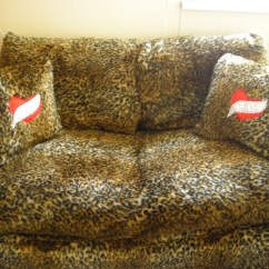 Leopard Print Sofa Appears Baja Convert A Couch And Bed Cover  Upholstery On Cut Out